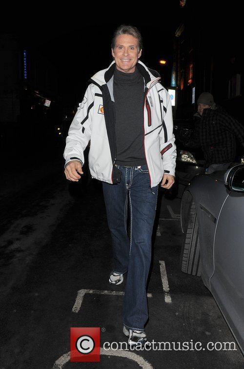 David Hasselhoff returns to his hotel, having performed...