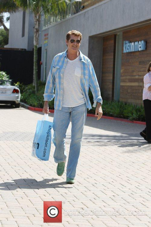 David Hasselhoff was spotted shopping at Kitson in...