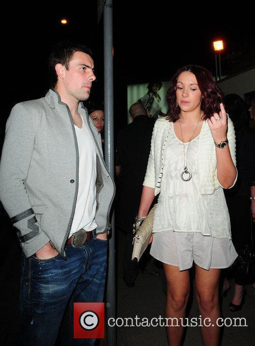 Celebrities leave the MEN Arena to attend David...