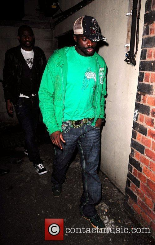 Kolo Toure Celebrities leave the MEN Arena to...