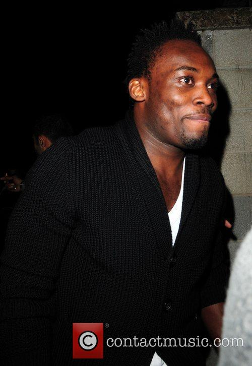 Michael Essien Celebrities leave the MEN Arena to...