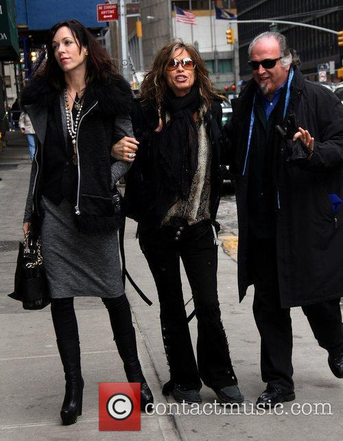 Liv Tyler, David Letterman, Ed Sullivan and Steven Tyler 2