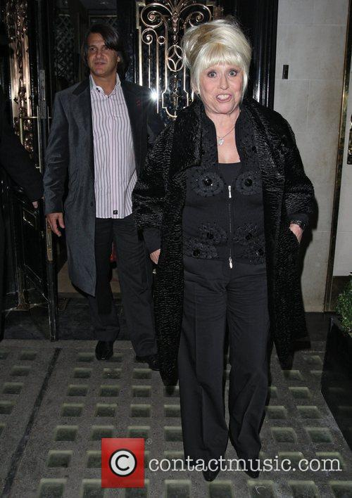 Barbara Windsor and Scott Mitchell leaving Scotts restaurant.