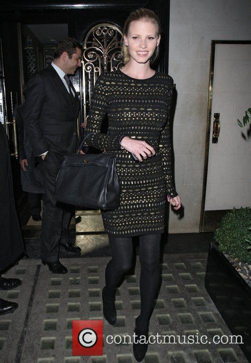 David Walliams and Lara Walliams leaving Scotts restaurant...
