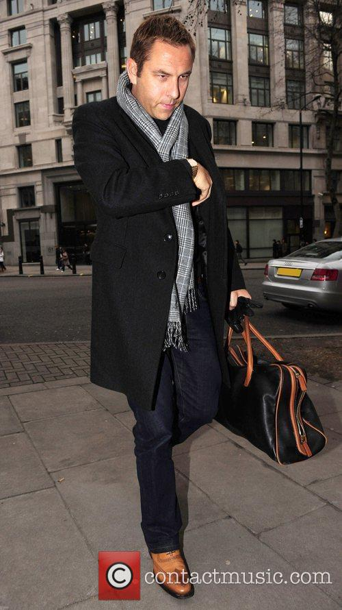 Arriving at the BBC Radio studios after his...