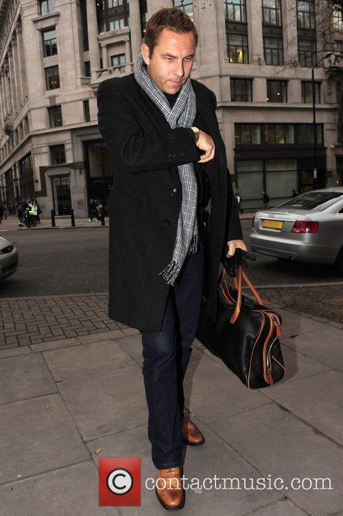 David Walliams arriving at the BBC Radio studios...