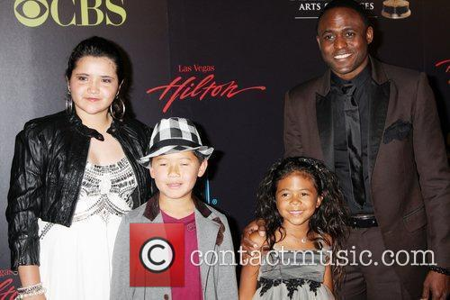 Wayne Brady and family 2010 Daytime Emmy Awards...