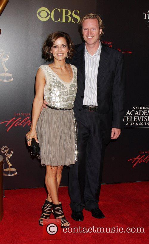 Rebecca Budig and guest 2010 Daytime Emmy Awards...
