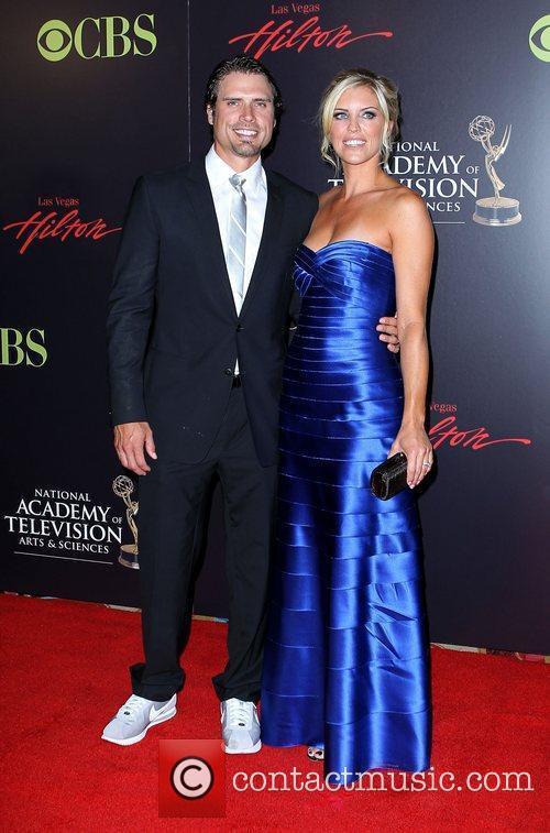 Joshua Morrow and wife 2010 Daytime Emmy Awards...