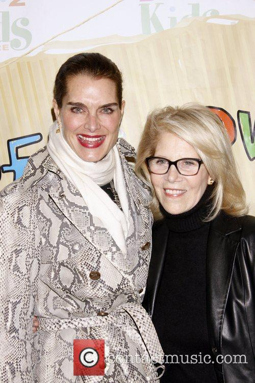 Brooke Shields and Daryl Roth The opening night...