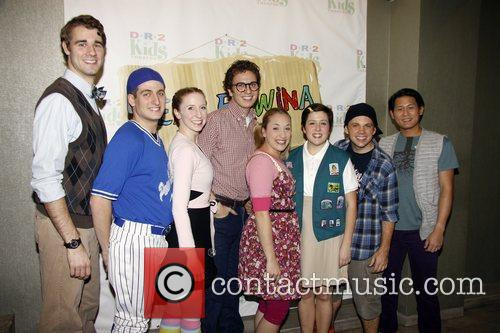 The Cast of Dear Edwina The opening night...