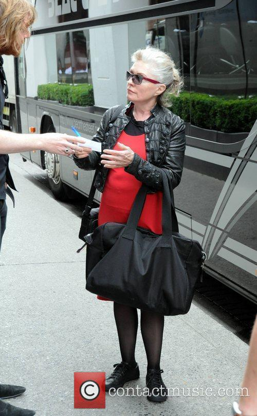 Singer Debbie Harry signs autographs for fans