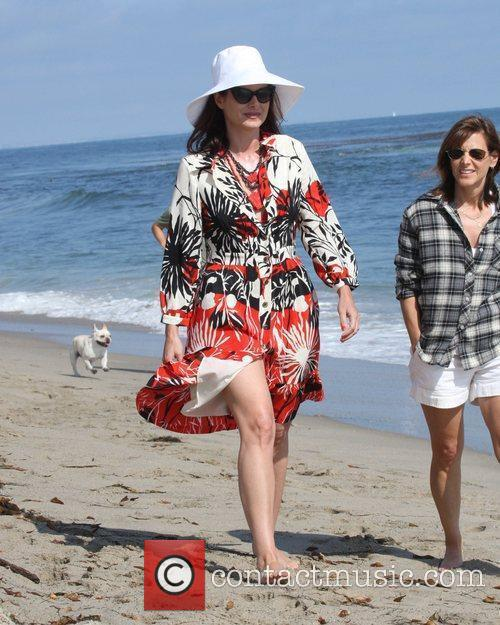 Debra Messing was spotted relaxing with friends on...