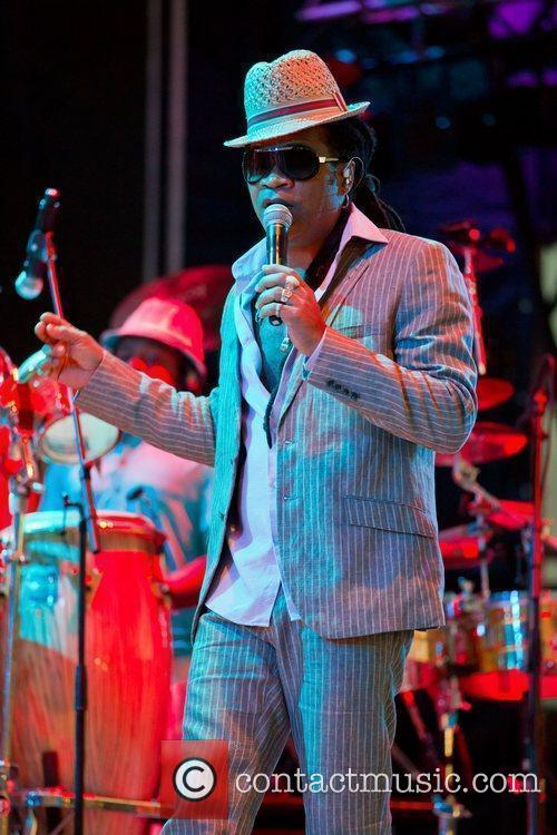Carlinhos Brown performing live at the 1st day...
