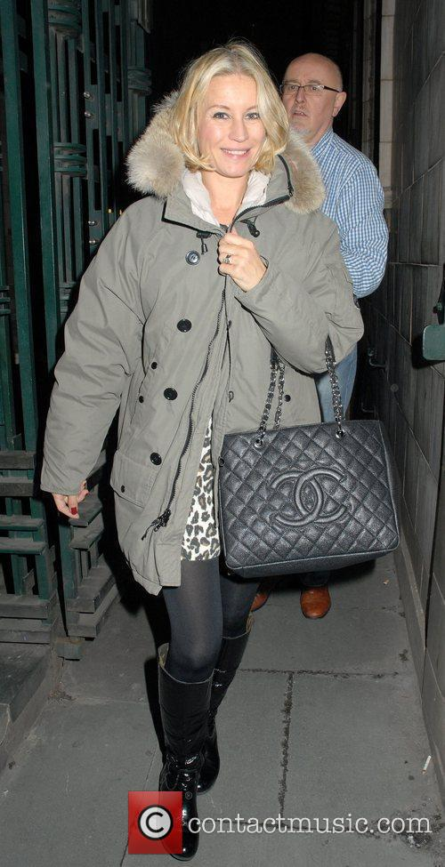 Denise Van Outen wearing no makeup leaving the...