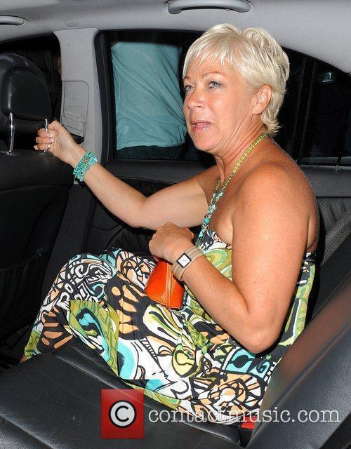 Denise Welch arriving back at her hotel at...
