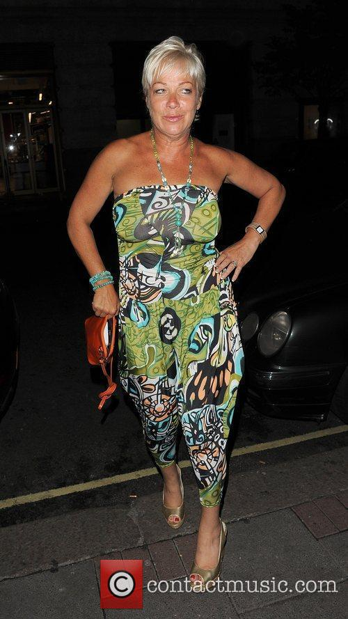 Denise Welch arriving back at her hotel at...