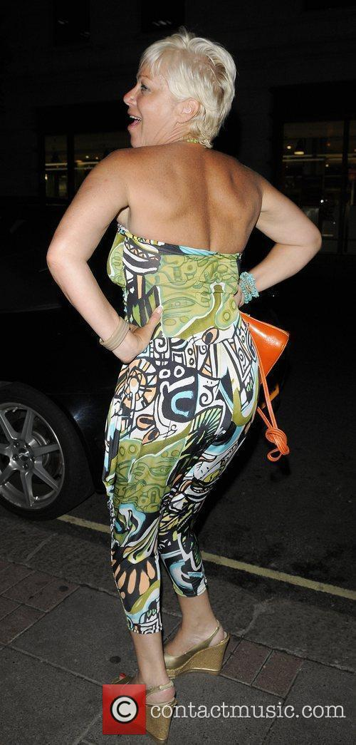 Denise Welch leaving her hotel for girls night...