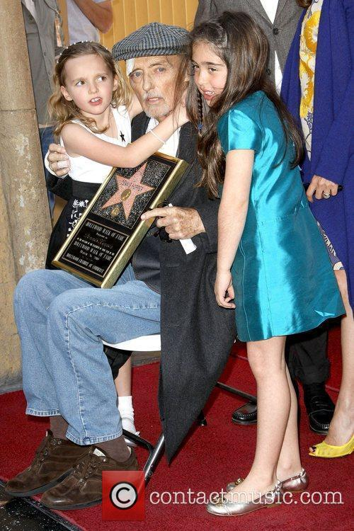 Dennis Hopper and His Granddaughters 7