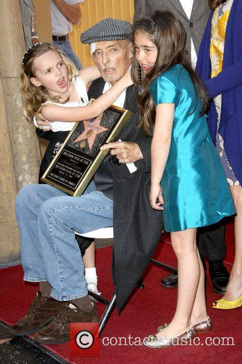 Dennis Hopper and His Granddaughters 6