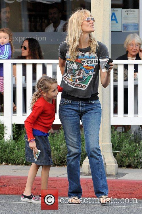Actress, Laura Dern and her daughter enjoy a...