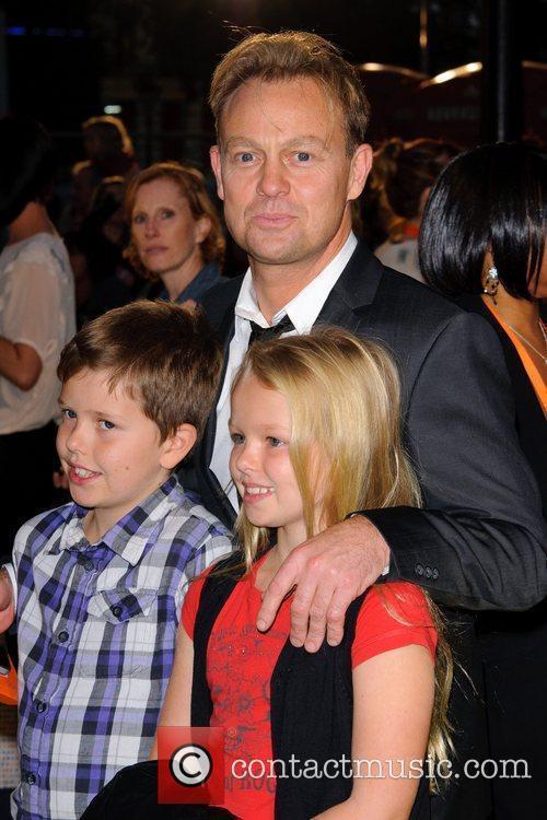 Jason Donovon and children Despicable Me - UK...