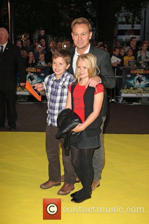Jason Donovan with his children Despicable Me -...