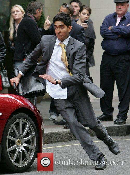 Dev Patel filming a new viral advertising campaign...
