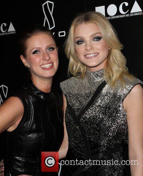 Jessica Stam (R) and Nicky Hilton Jessica Stam...