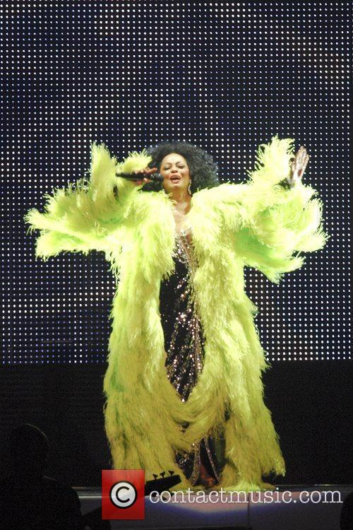 Diana Ross performing live in concert at the...