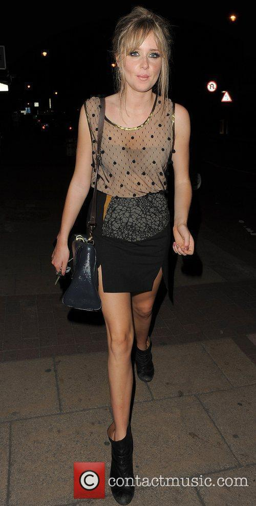 Diana Vickers arriving home, after her performance at...