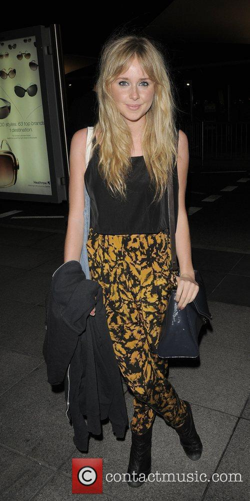 Diana Vickers arriving at Heathrow airport having performed...