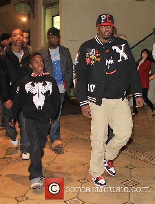 Sean Combs aka Diddy and his son Justin...
