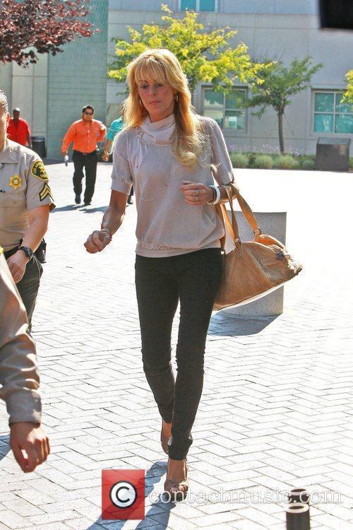 Dina Lohan leaving Lynwood Correctional Facility after visiting...