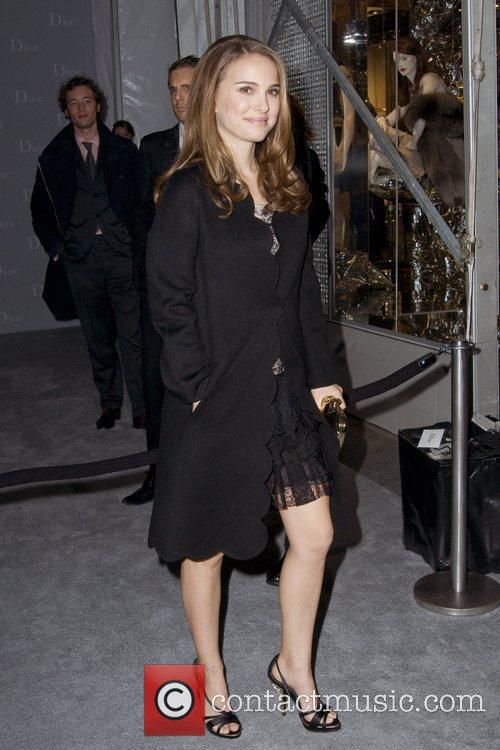 Natalie Portman Dior re-opens their New York 57th...