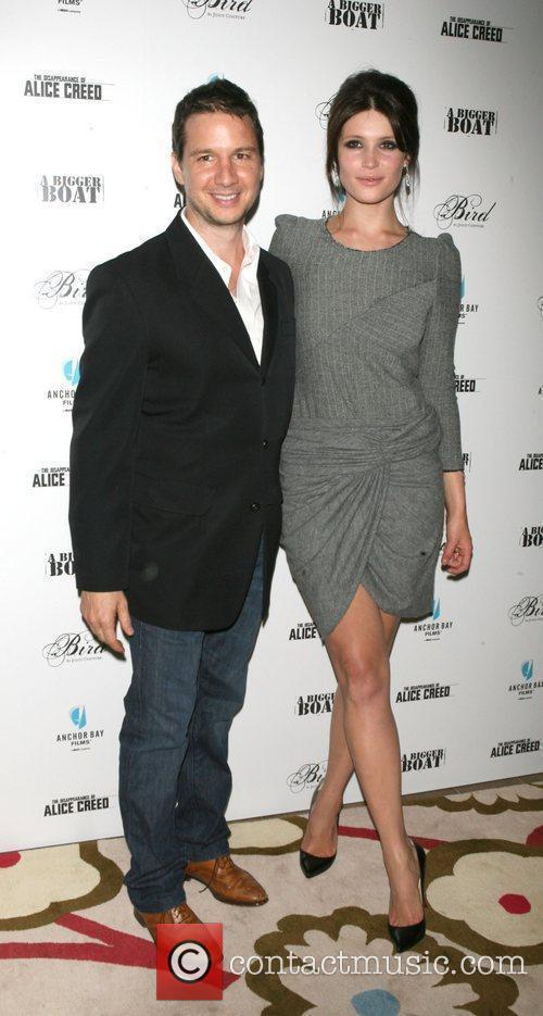 Jonathan Penotti, Gemma Arterton attends the premiere of...