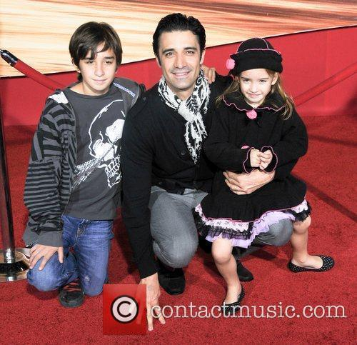 Gilles Marini and family Disney's 'Tangled' Los Angeles...