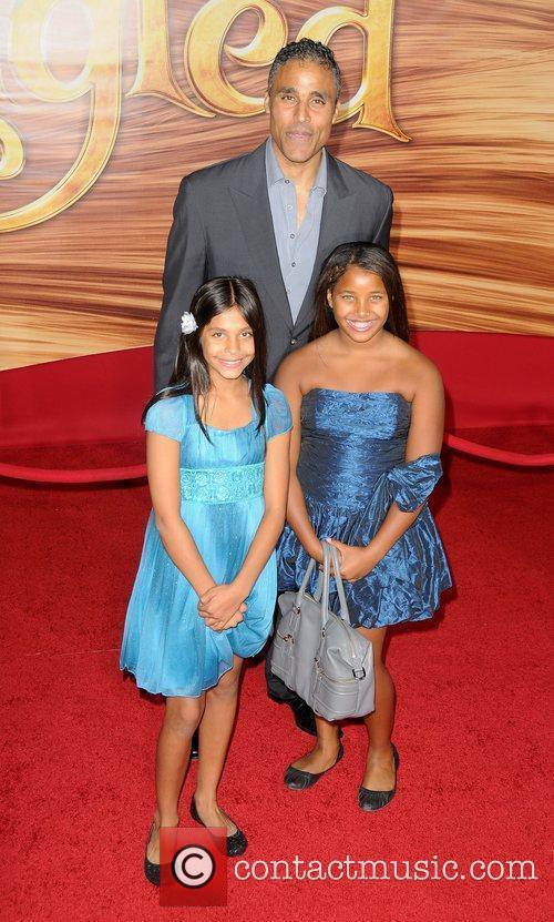Rick Fox and daughters Disney's 'Tangled' Los Angeles...