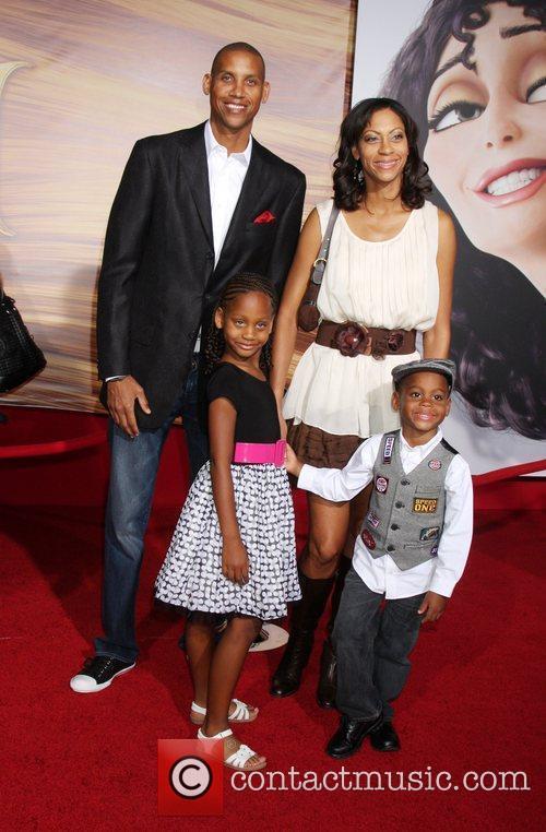 Reggie Miller and Family Disney's 'Tangled' Los Angeles...