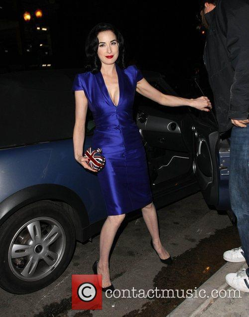 Dita Von Teese arrives for a booksigning at...
