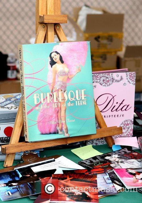 Dita Von Teese during a book signing at...