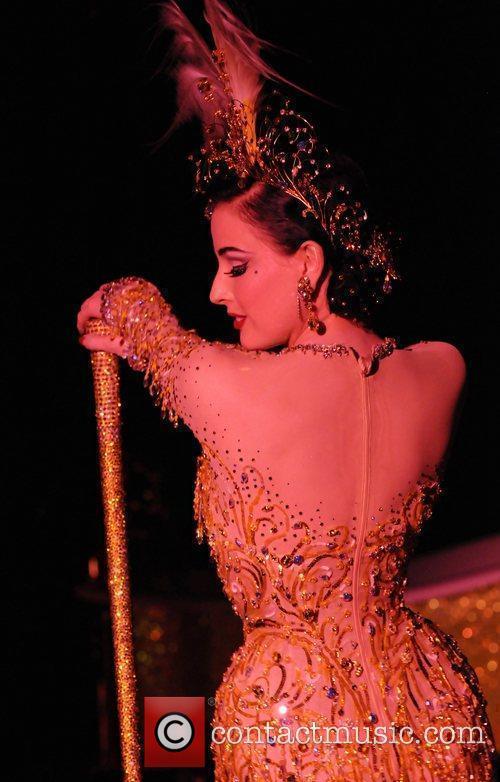 Dita Von Teese performing in the Strip Strip...
