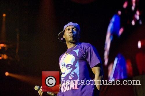 Dizzee Rascal performing at the O2 Arena London,...