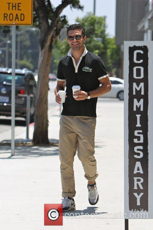 Dominic Cooper stops into Coffee Commissary to get...
