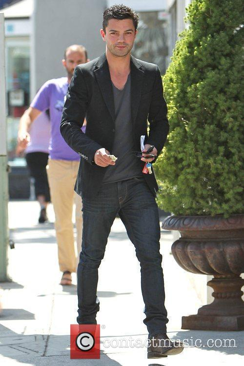 Dominic Cooper arriving at Le Pain Quotidien in...