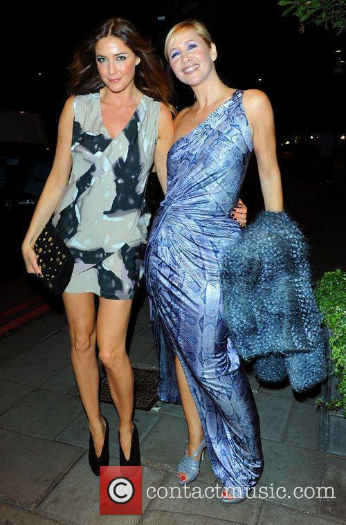 Lisa Snowdon and guest Women's Aid fundraising dinner...