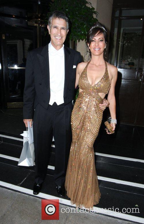 Investor Charles Brandes and wife Tanya Brandes leave...
