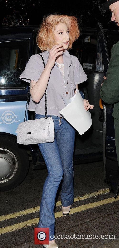 Girls Aloud singer, Nicola Roberts arriving at the...