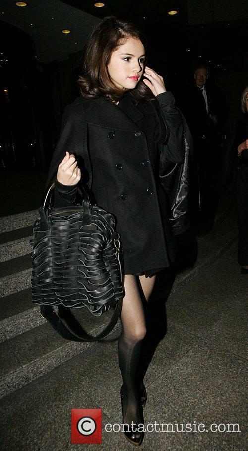 Selena Gomez leaving her hotel