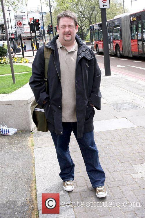 Johnny Vegas outside The Dorchester Hotel  London,...
